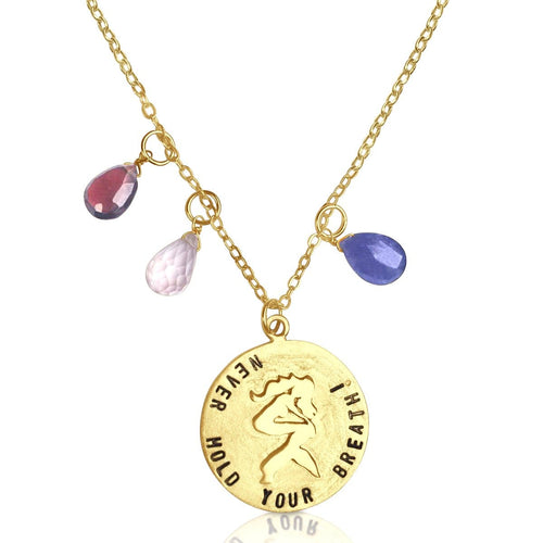 Miss Scuba Never Hold Your Breath Gold Filled Necklace