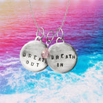 Breath In - Breath Out Necklace with Rose Quartz for Compassion and to Heal Your Heart