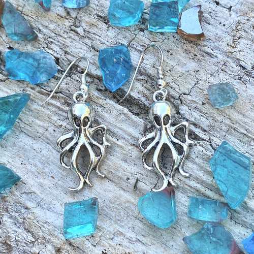 Octopus Earrings to Symbolize Adaptability