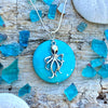Octopus Necklace with Turquoise Howlite to Symbolize Adaptability