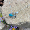 Yoga Inspired Playful Turquoise and Ohm Cluster Necklace