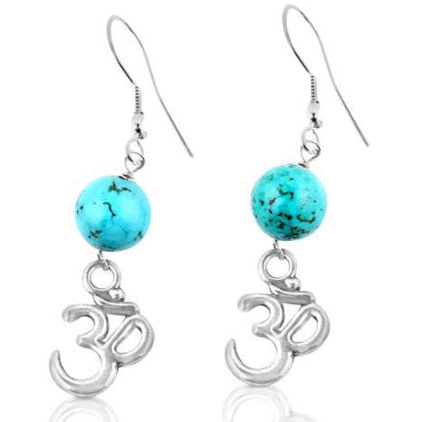OHM Yoga Earring with Turquoise