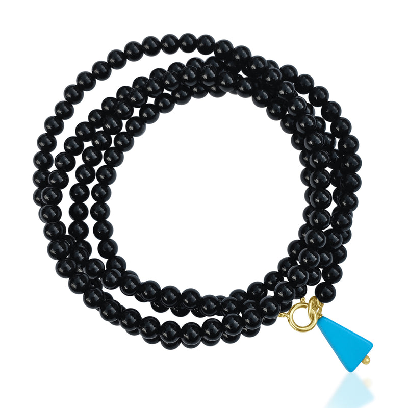 Onyx Wrap Bracelet for Self-Control