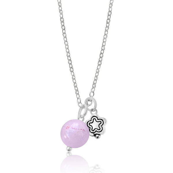 Loving Intention Necklace with Pink Agate