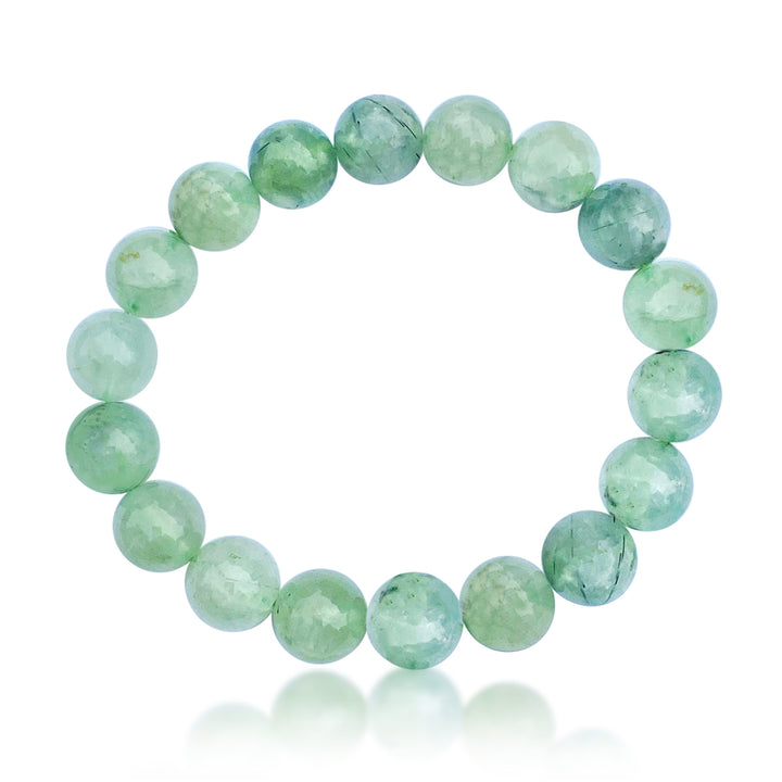 Green Prehnite Bracelet to see the the good in all things from Gogh Jewelry Design