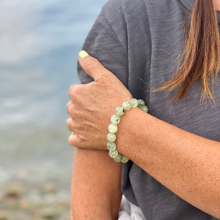 Green Prehnite Bracelet to see the the good in all things
