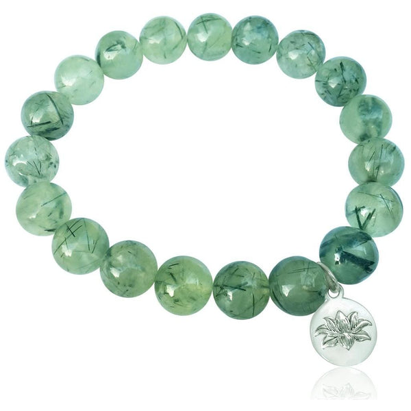 Zen Master Green Prehnite Bracelet for Intuition