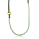 Serenity Prehnite Inhale - Exhale Necklace for Unconditional Love