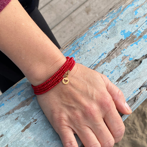 Wear this bracelet as a reminder that Love starts with Self Love. If you don't love yourself, you can not love others, said the Dalai Lama.