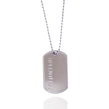 Relentless Dog Tag Necklace (Black Stainless Steel)