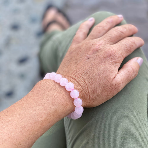 Rose Quartz Bracelet for Compassion and Healing Your Heart