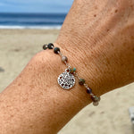 Mother Earth Bracelet with Sand Dollar Beach Charm