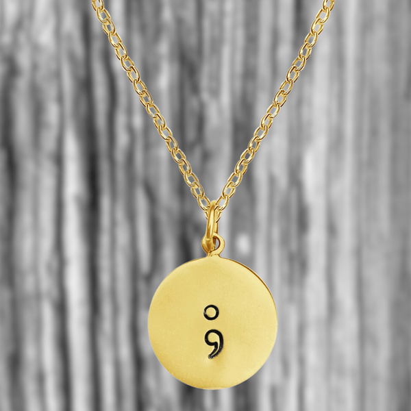 gold My Story isn't over Semicolon Necklace
