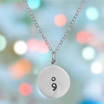 Sterling Silver My Story isn't over Semicolon Necklace