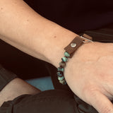 Serenity African Turquoise Bracelet to Remind you to Enjoy the Journey with Sterling Silver Clasp