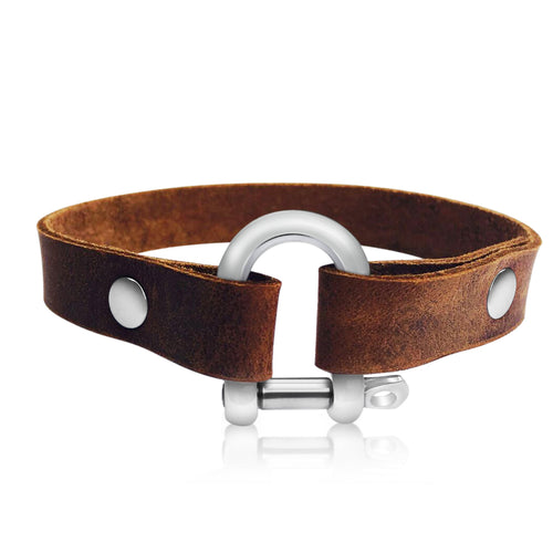 Leather Bracelet for Perseverance (petite size)