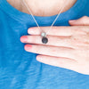 Zero Waste Charm Necklace with Lava Stone