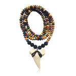 Shark Tooth Necklace for the Adrenaline Hunters and Shark Lovers - Jasper and Lava