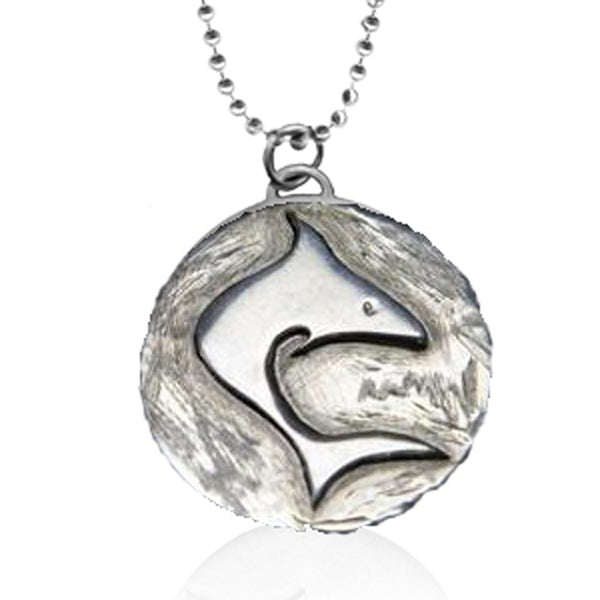 Sterling Silver Ocean Inspired Shark Necklace from the Miss Scuba Jewelry Collection