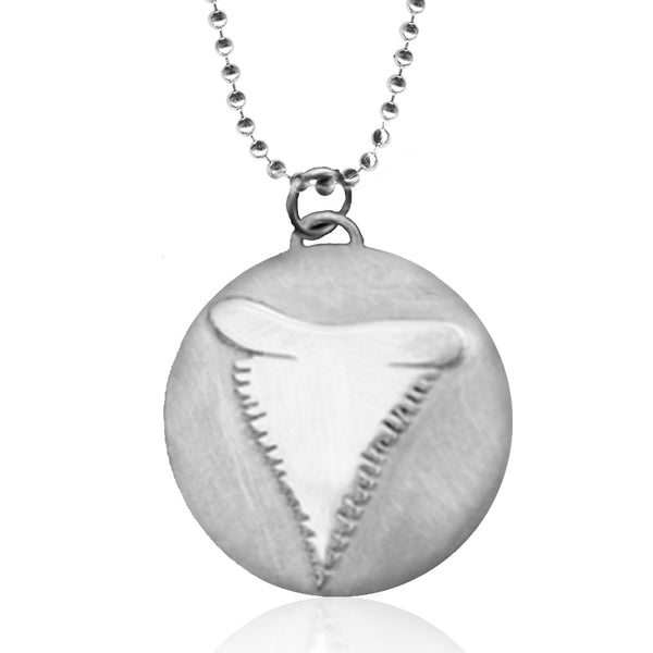 Sterling Silver Ocean Inspired Shark Tooth Necklace from the Miss Scuba Jewelry Collection