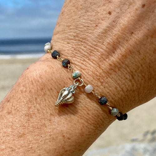 Mother Earth Bracelet with Sea Shell Beach Charm