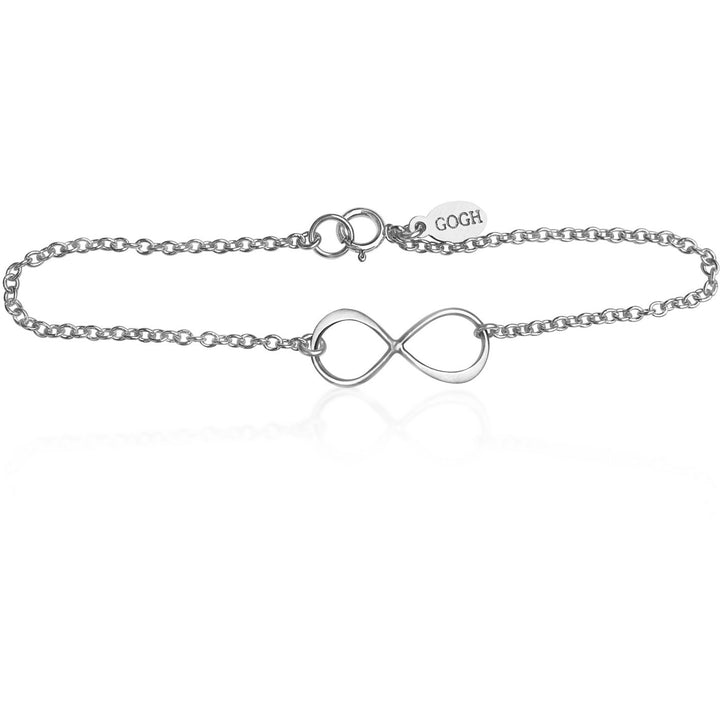 Infinity Sterling Silver Bracelet for Everlasting Love