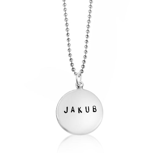 Simple and Stylish Personalized Sterling Silver Name Charm Necklace