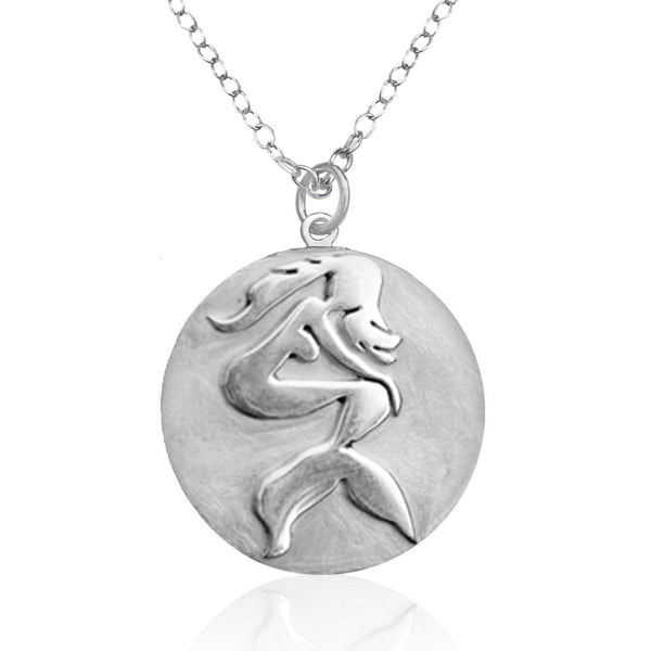 Sterling Silver Sitting Mermaid Ocean Inspired Necklace from the Miss Scuba Jewelry Collection