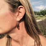 Smoky Quartz Earrings to Remove Negativity