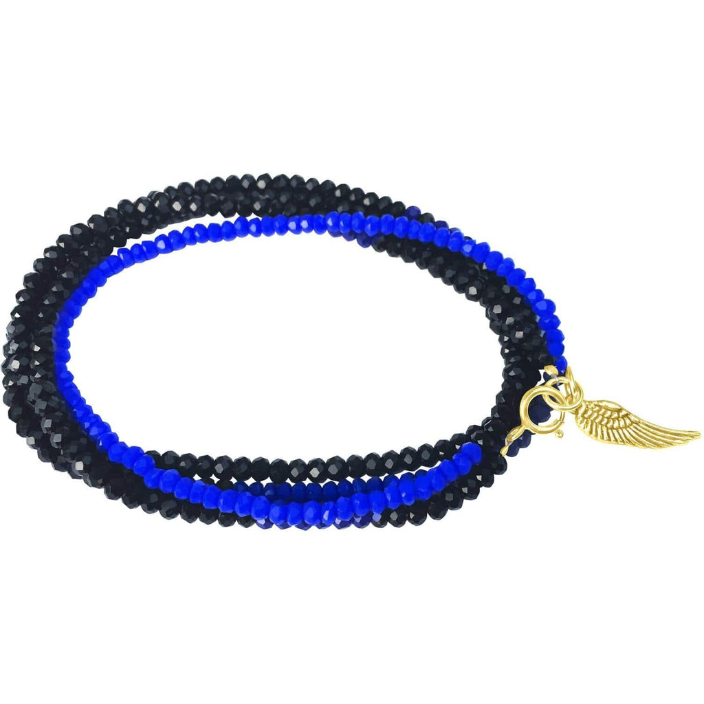 blue bracelet rubber and army wristband banner spangled line thin military tbl product
