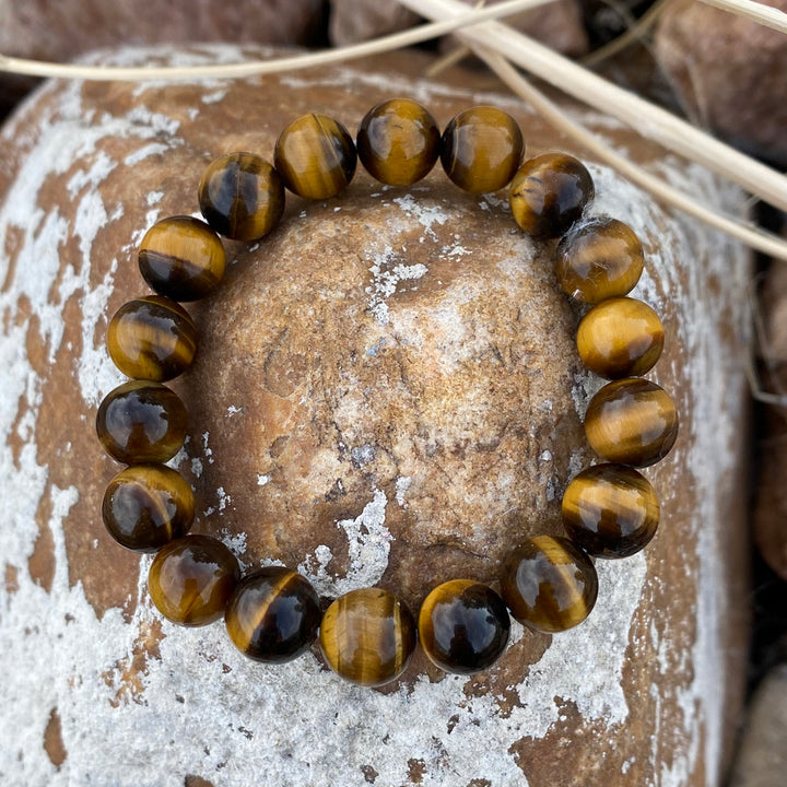 Unisex Tiger Eye Bracelet for Grounding