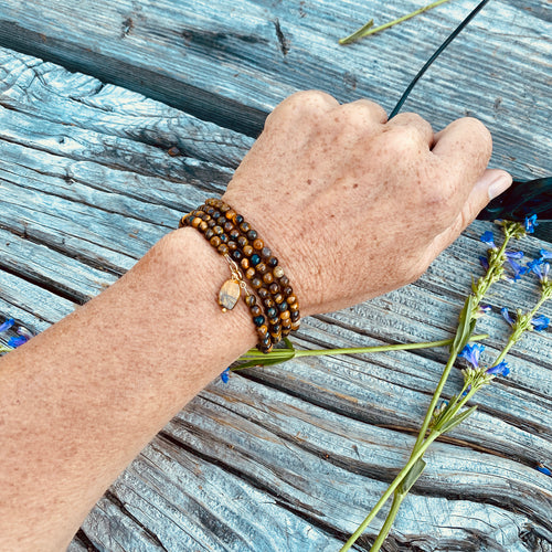 Tiger Eye Wrap Bracelet for Focus