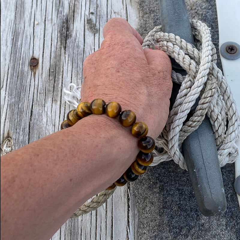 Unisex Tiger Eye Yoga Inspired Grounding Bracelet