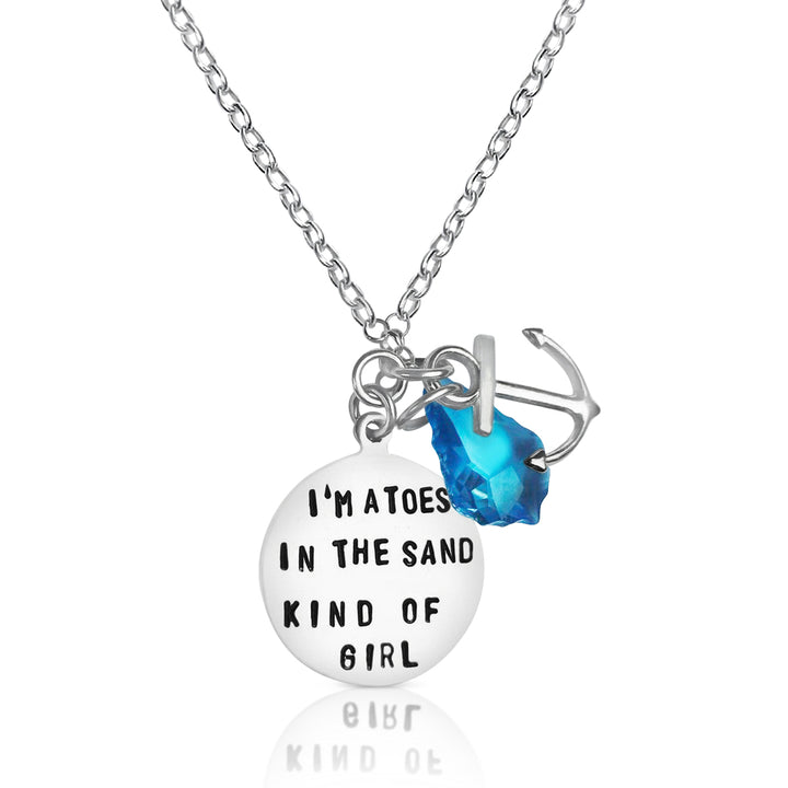 Sterling Silver I am a Toes in the Sand Kind of Girl Necklace