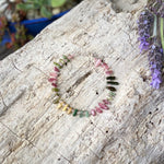 Emotional Healing Rainbow Chakra Tourmaline Bracelet for Self Love