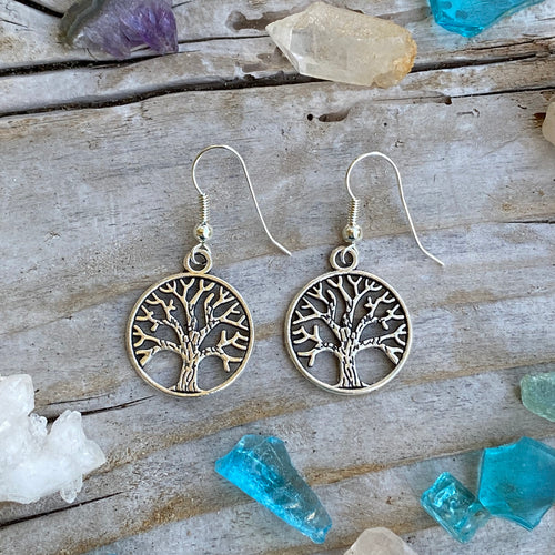 Tree of Life Earrings for Grounding