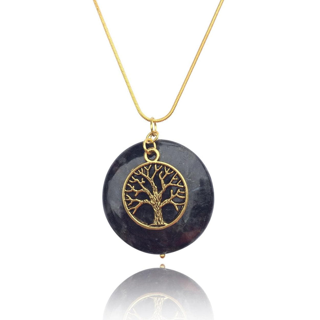 Obsidian Tree Of Life Necklace For Grounding