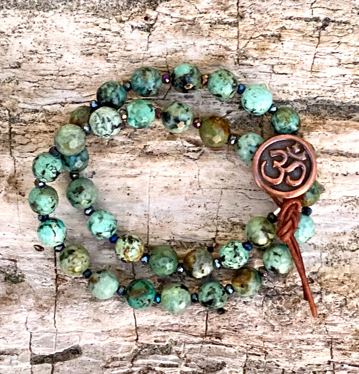 Turquoise Ohm Yoga Bracelet from Gogh Jewelry Design