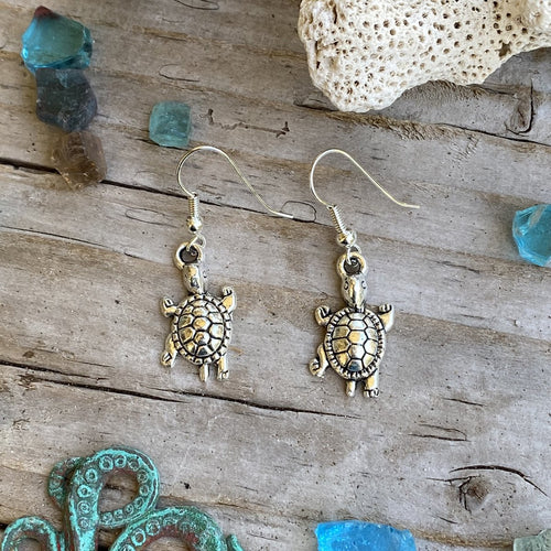 Ocean Inspired Turtle Earrings for Kids
