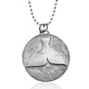 Sterling Silver Ocean Inspired Whale Tail Necklace from the Miss Scuba Jewelry Collection.