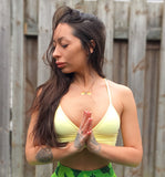 yoga instructor YogawithBird loves our Breath in & Breath Out Gold Filled Necklace