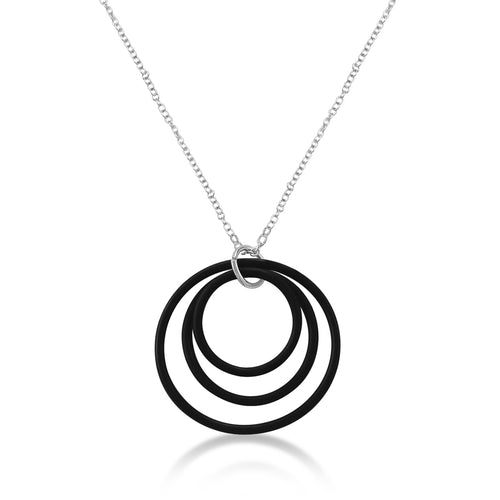 Zero Waste Necklace for Conscious Eco Living from recycled scuba gear