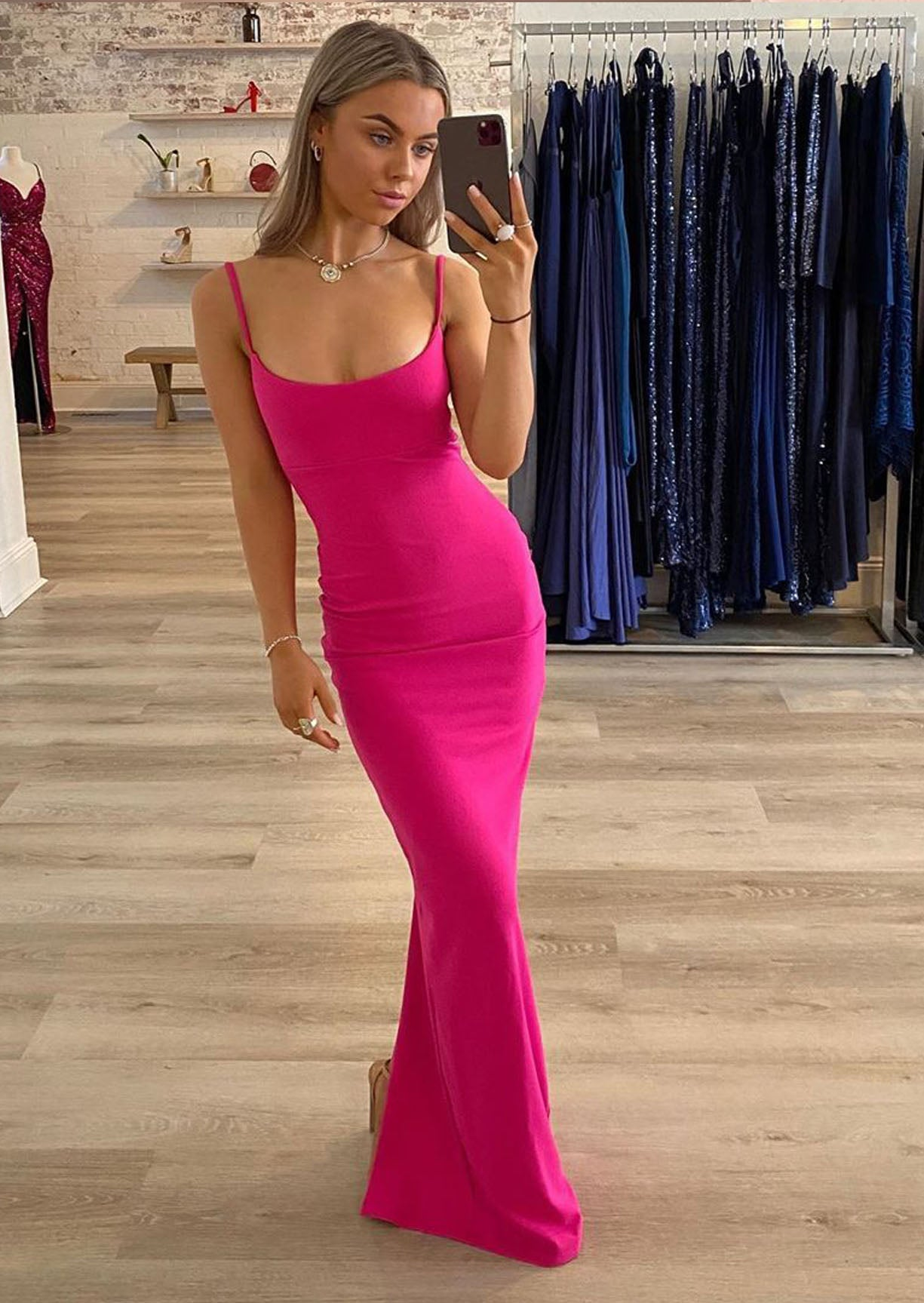 NOOKIE - Bailey Gown Hot Pink (8)