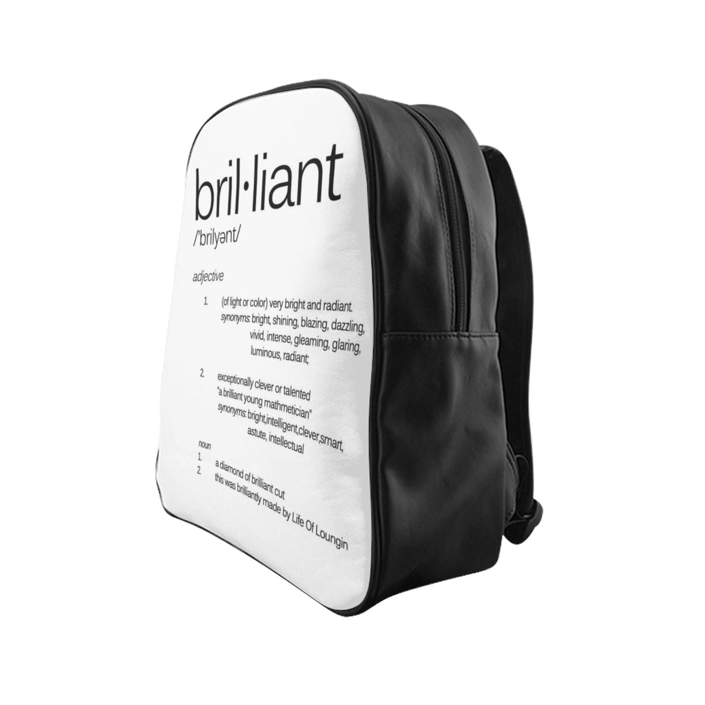 Brilliant Definition School Backpack - Life of Loungin