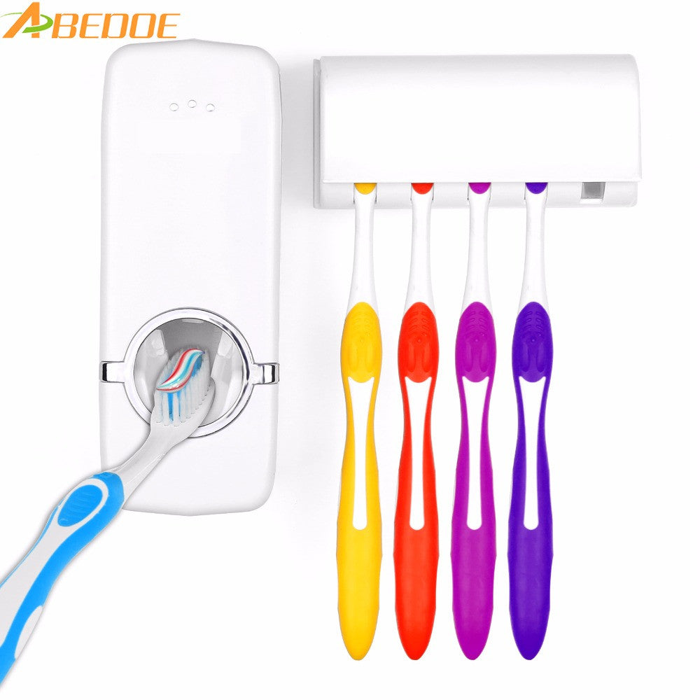 Automatic Toothpaste Dispenser- 5 Toothbrush  Wall Mount - Life of Loungin