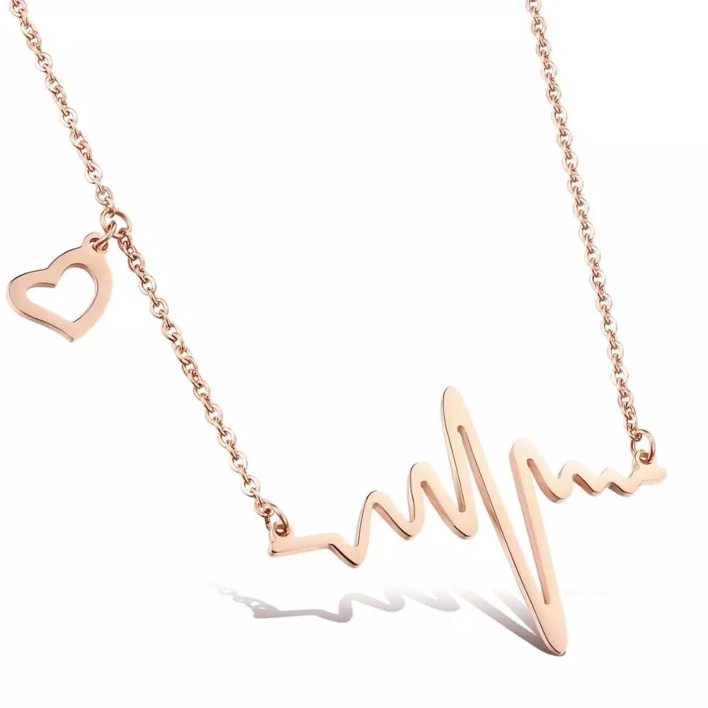 Guard Your Heart Necklace - Rose Gold
