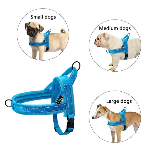 Pet no pull reflective d ring dog chest pet harness and strap vest