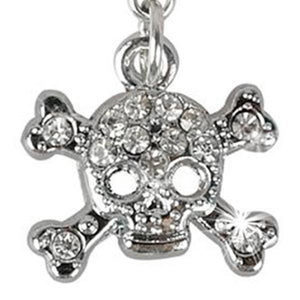 Pirate silver skull pendant necklace for dogs cats