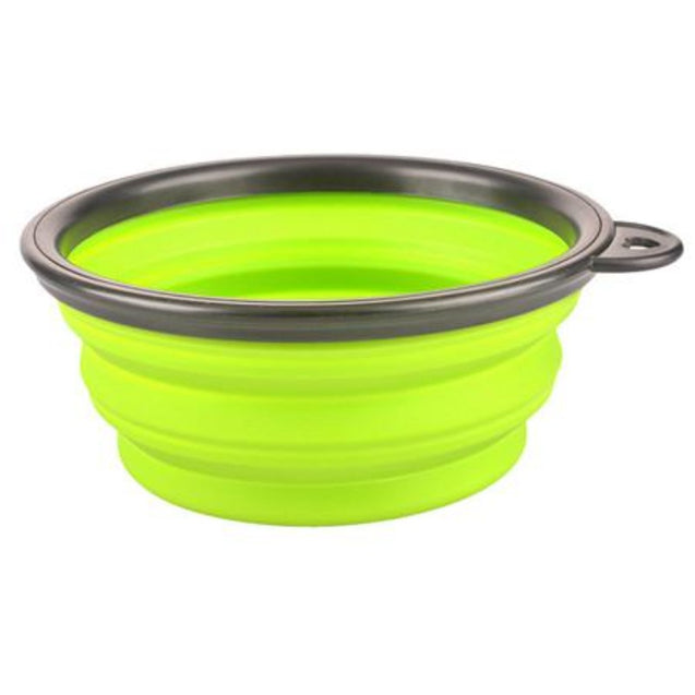 Raised elevated collapsible foldable puppy dog feeder bowl