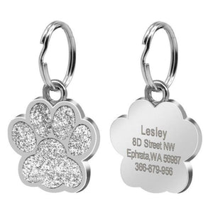 Paw Shape Dog ID Tag